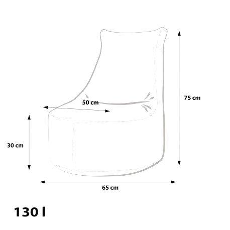 Ecopuf Detský MINI sedací vak Ecopuf - SEAT S modern polyester DG32/NC10