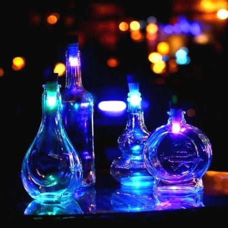 LED korok do fľaše