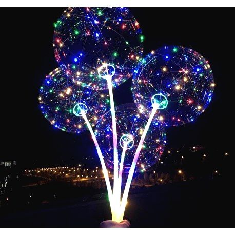 MJ11848 LED svietiaci balón s rúčkou - 1ks