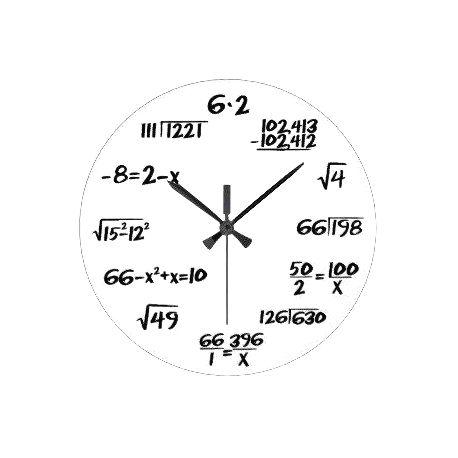 Matematické hodiny biele