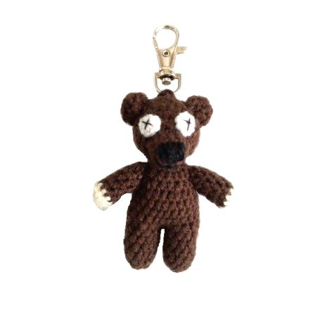 Medvedík - Mr. Bean - prívesok na kľúče