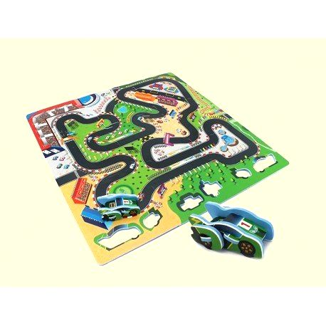 DR Penové puzzle autodráha 9ks