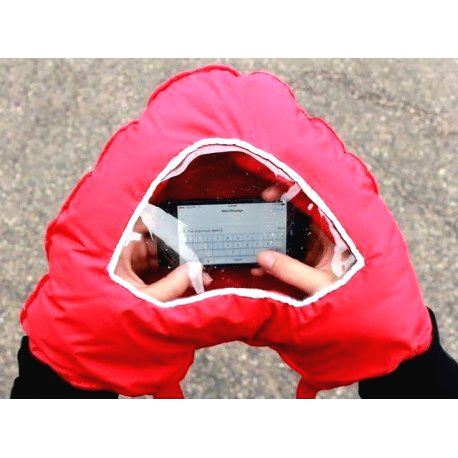 Zamilované rukavice s okienkom pre smartphone
