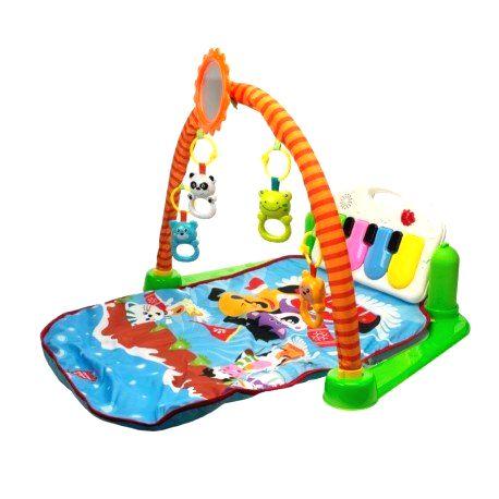 9885 DR Detská interaktívna podložka 3v1 pianko so zvieratkami
