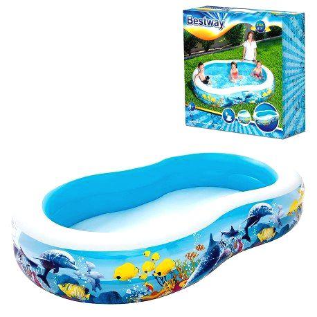 54118 BESTWAY Detský bazén Nemo 262x157x46cm Bestway