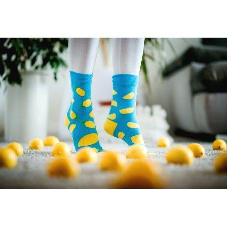 HESTY Veselé ponožky HESTY - Citrón 43-46