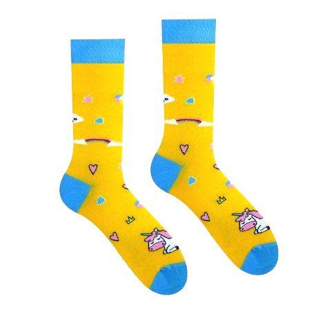 HESTY Veselé ponožky HESTY - Jednorožec 43-46