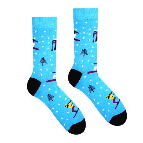HESTY Veselé ponožky HESTY - Lyžiar 30-34
