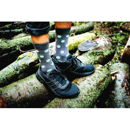 HESTY Veselé ponožky HESTY - Pastelka zelená 43-46