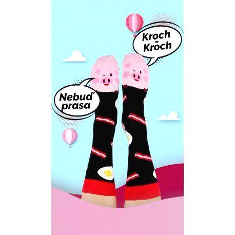 HESTY Veselé ponožky HESTY - Prasiatko 43-46