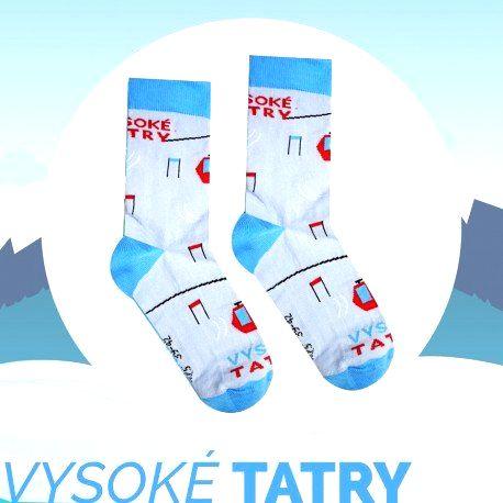 HESTY Veselé ponožky HESTY Vysoké Tatry – Lanovka 43-46