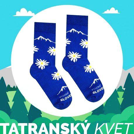 HESTY Veselé ponožky HESTY Vysoké Tatry – Tatranský kvet 43-46