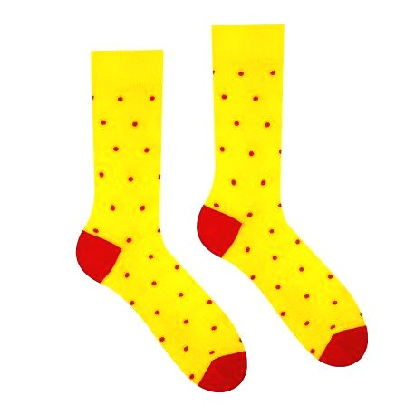 HESTY Veselé ponožky HESTY - Žltý Gentleman 43-46