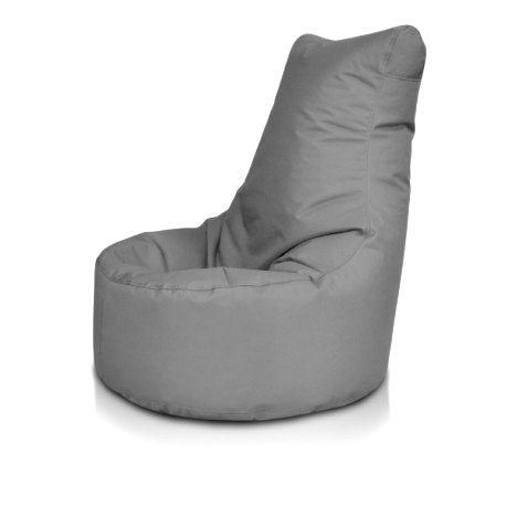 Ecopuf Detský MINI sedací vak ECOPUF - SEAT S - polyestér NC16 - Tmavo sivá