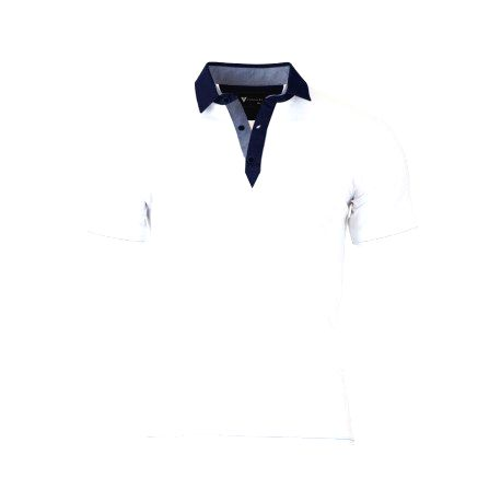 VERSABE Pánske Polo tričko biele VS-PO 1901 XXXL