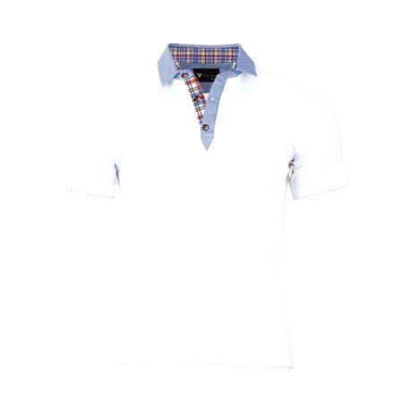 VERSABE Pánske Polo tričko biele VS-PO 1909 XXXL