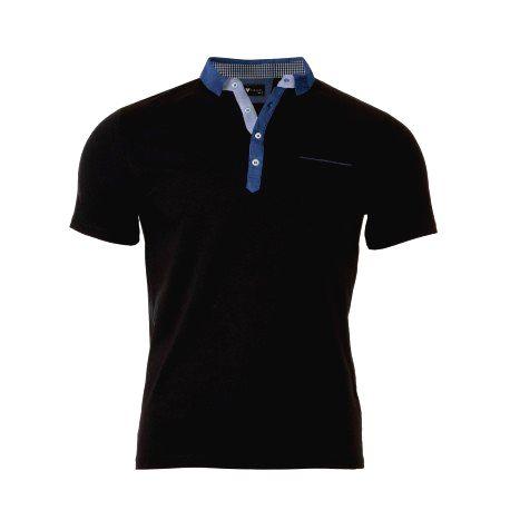 VERSABE Pánske Polo tričko čierne VS-PO 1907 XXXL