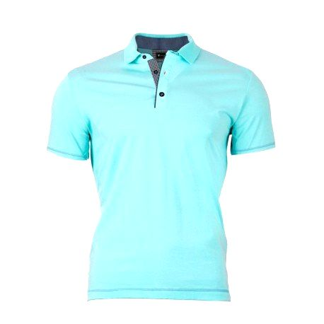 VERSABE Pánske Polo tričko - tyrkysovo zelené VS-PO 1906 L