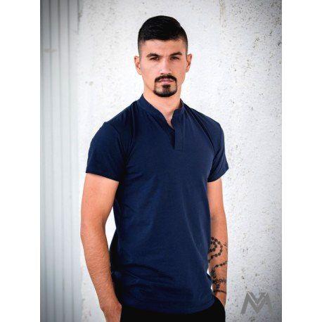 VERSABE Pánske polo tričko z BIO bavlny 04 tmavomodré VS-PO 1903 XL