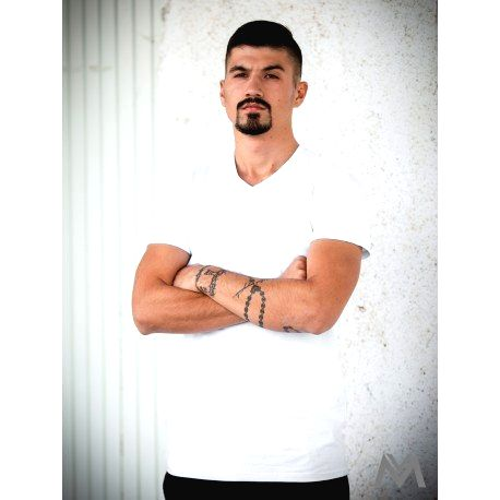 VERSABE Pánske tričko z BIO bavlny 01 biele VS-PT1801 XXL