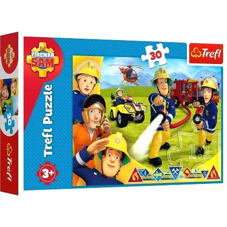 18244 TREFL Puzzle Požiarnik Sam - 30 dielov