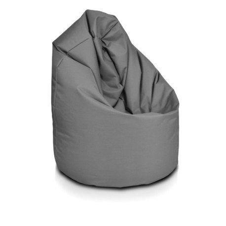 Sedací vak ECOPUF - GIGA SAKO - polyester NC16 - Tmavo sivá