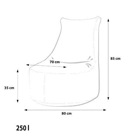Ecopuf Sedací vak Ecopuf - SEAT L Modern polyester DG38/NC15