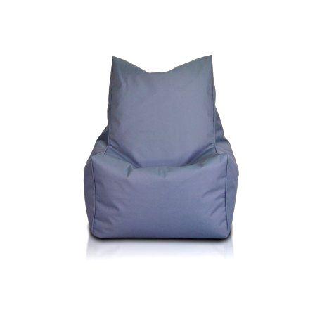 Ecopuf Sedací vak ECOPUF - SOLID - polyester NC16 - Tmavo sivá