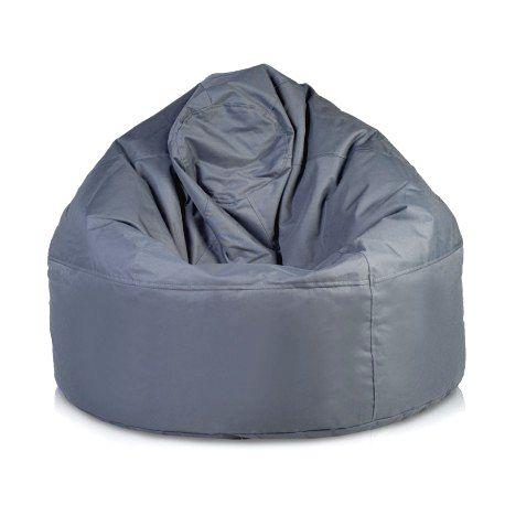 Ecopuf Sedací vak Ecopuf - VIPER polyester NC16 - Tmavo sivá