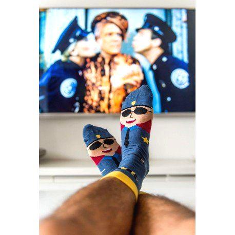 HESTY Veselé ponožky HESTY - Policajti 43-46