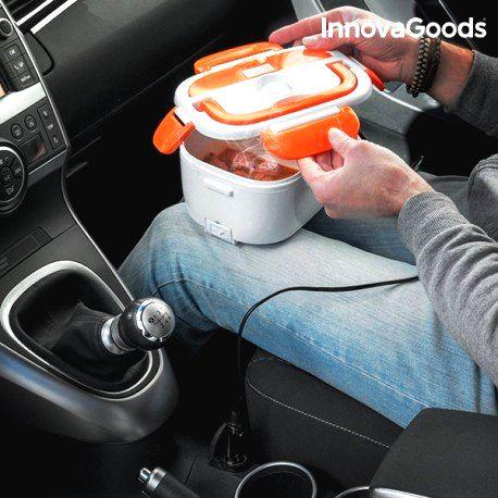 V0100815 InnovaGoods Elektrický obedár do auta InnovaGoods 40W 12 V bielo-oranžová