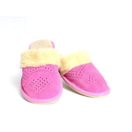 211 Dámske kožené papuče Model 14 41
