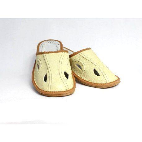 86 Pánske kožené papuče Model B 48