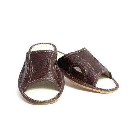 89 Pánske kožené papuče Model E 46