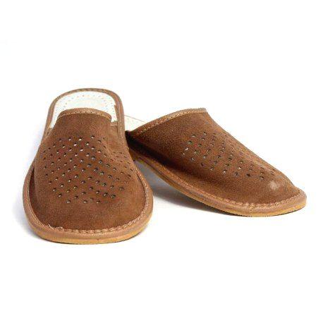 103 Pánske kožené papuče Model S 46