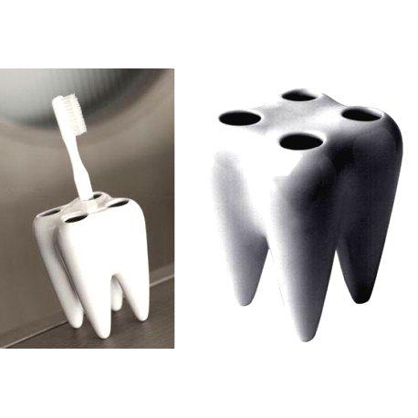 DR Držiak na zubné kefky v tvare zubu