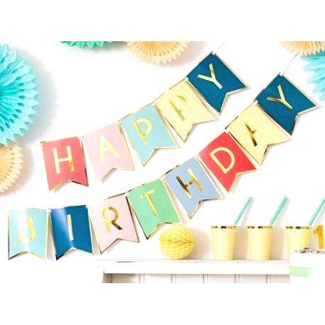 GRL56 Girlanda - Baner - HAPPY BIRTHDAY