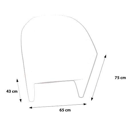 Ecopuf Kreslo - Ecopuf - HOKER - PREMIUM hovädzia koža B2