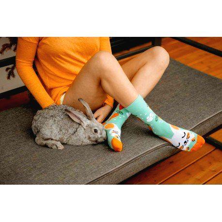 HESTY Veselé ponožky HESTY - Zajkáče 43-46