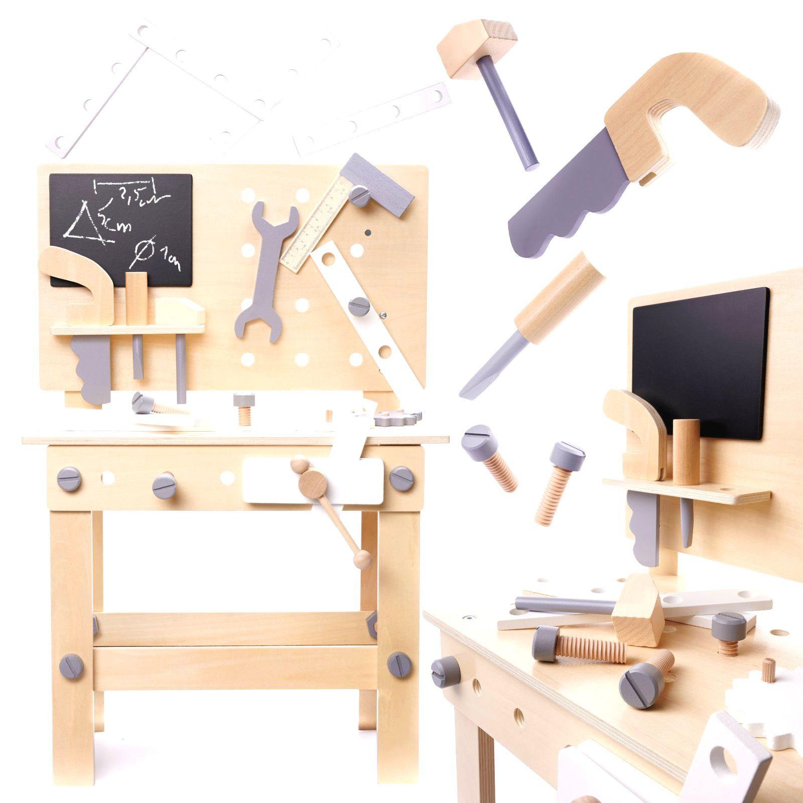 KIK Detská drevená dielňa s náradím