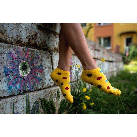 Veselé ponožky HESTY - Frutti členkové 43-46