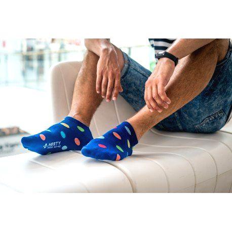HESTY Veselé ponožky HESTY - Lentilky členkové 43-46
