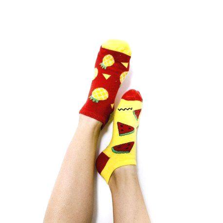 HESTY Veselé ponožky HESTY - Melón a Ananás členkové 43-46